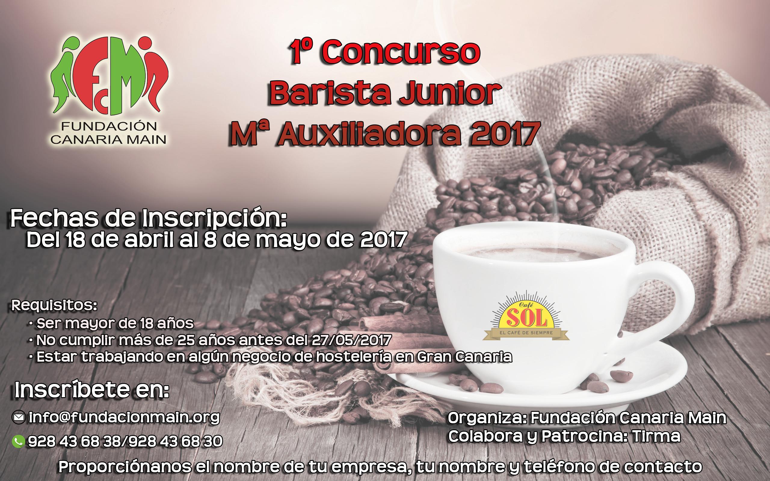 Primer Concurso Barista Junior Mª Auxiliadora 2017