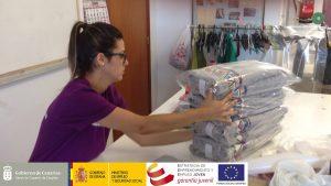 """Control de calidad y empaquetado de productos textiles – PFAE GJ """"El taller de Mercedes"""""""