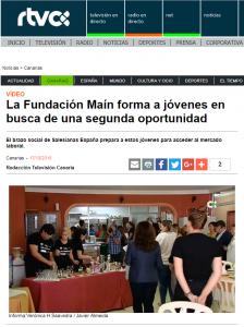 La Fundación Maín forma a jóvenes en busca de una segunda oportunidad