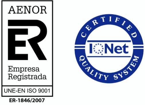 Certificado de Calidad AENOR