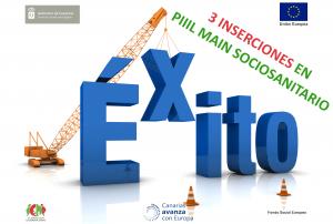Incorporaciones al mercado laboral en PIIIL Main Sociosanitario