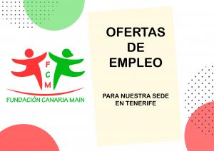 Oferta de Empleo para Sede en Tenerife